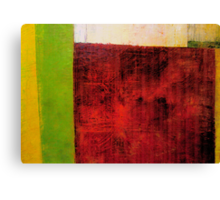 Red and Green Abstract Canvas Print