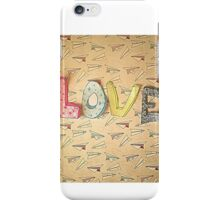 LOVE and Paper Planes  Design iPhone Case/Skin