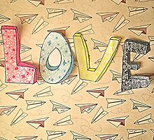 LOVE and Paper Planes  Design by AnnestiMeets