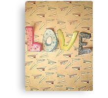LOVE and Paper Planes  Design Canvas Print