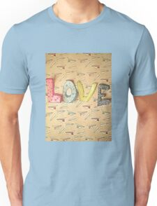 LOVE and Paper Planes  Design Unisex T-Shirt