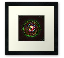 'Light Flame Abstract 330' Framed Print
