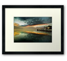 Smoke on the water and fire in the sky Framed Print