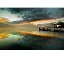 Smoke on the water and fire in the sky Photographic Print