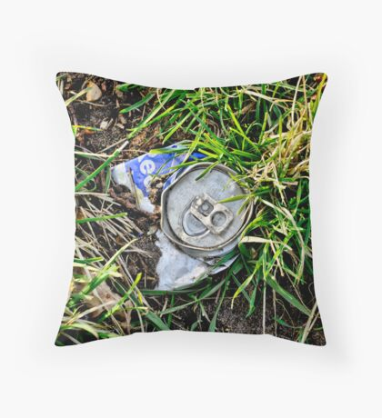 Man and Nature, drinks can Throw Pillow