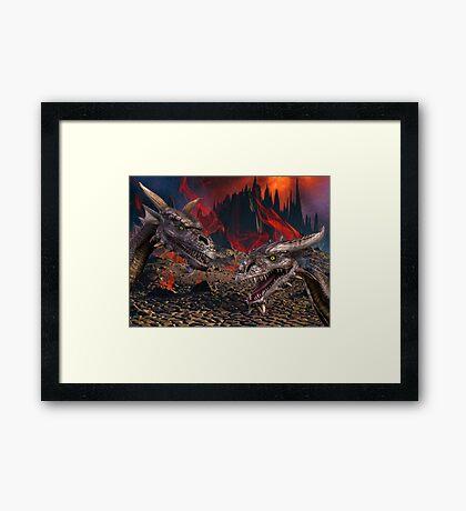Dragons World Framed Print