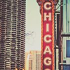 Vintage Chicago Theatre Sign by Kadwell