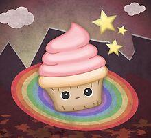 Sweet cupcake on a rainbow by TICS