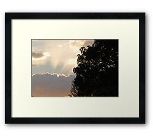Sunset before shuttle Framed Print