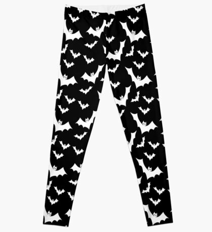 Pastel Goth Vampire Bats (Black / White) Leggings