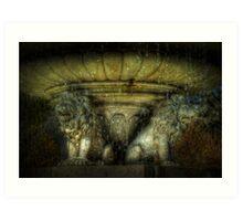 Lion Fountain, Dorchester Park Art Print