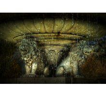 Lion Fountain, Dorchester Park Photographic Print