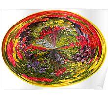 Seasonal flower swirl Poster