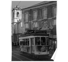 Tram in the city Poster
