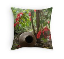 Poinsetta tree Throw Pillow