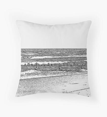 Lake Michigan with Timber Throw Pillow