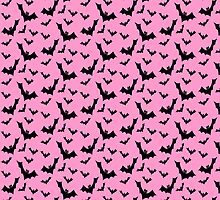 Pastel Goth Vampire Bats (Pink / Black) by PastelGoth