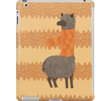 Llama In A Scarf Keeping Warm iPad Case/Skin