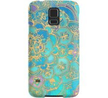 Sapphire & Jade Stained Glass Mandalas Samsung Galaxy Case/Skin