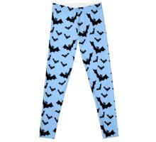 Pastel Goth Vampire Bats (Blue / Black) Leggings