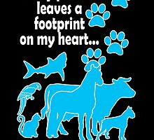 EVERY PATIENT LEAVES A FOOTPRINT ON MY HEART VETERINARY TECHNICIAN by BADASSTEES