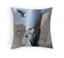 Curls Of Blue Throw Pillow