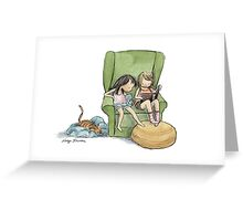 Reading Girls Greeting Card