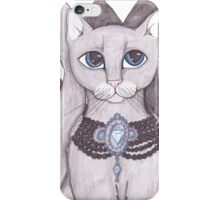 Harlequin Grey Cat Art iPhone Case/Skin