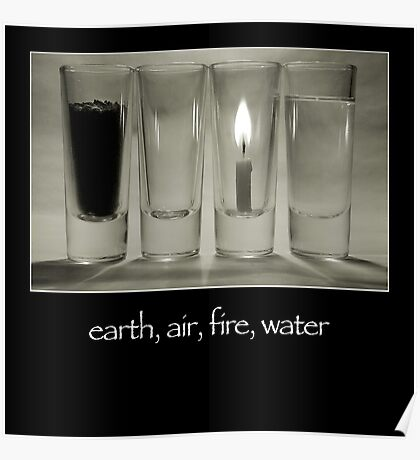 earth, air, fire, water Poster