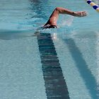 Swimmer Warming Up for a Swim Meet by Buckwhite