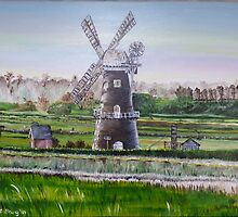 windmill in norfolk, uk by wend06