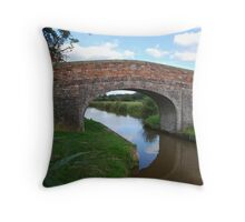 Ashby canal bridge Throw Pillow