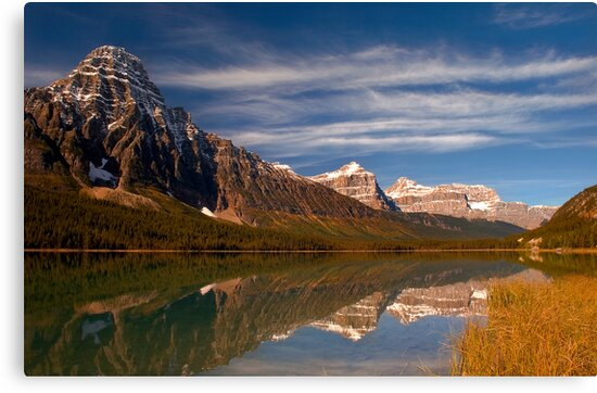 Waterfowl Lakes, reflection, Icefields Parkway NP, Alberta, Canada. by PhotosEcosse