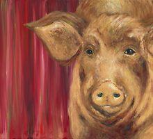 Strike a Pose Pig by ShawnaElliott