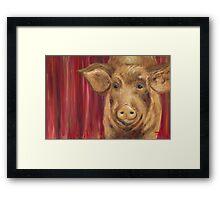 Strike a Pose Pig Framed Print