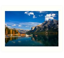 Lake Minnewanka. Banff National Park, BC, Canada. Art Print
