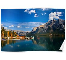 Lake Minnewanka. Banff National Park, BC, Canada. Poster