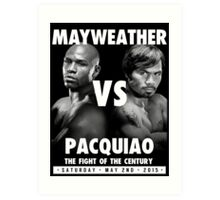 Floyd Money Mayweather VS Manny Pacman Pacquiao May 2nd 2015 Art Print