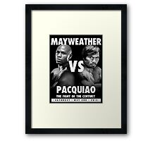 Floyd Money Mayweather VS Manny Pacman Pacquiao May 2nd 2015 Framed Print