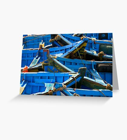 puzzle boats Greeting Card