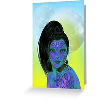 Exotic Alien Greeting Card