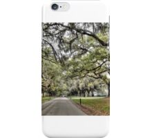 Boone Hall Plantation Way  iPhone Case/Skin