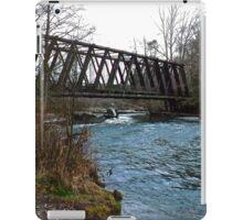 Railroad Bridge on Dungeness River iPad Case/Skin