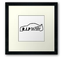 Rip Paul Walker  Framed Print