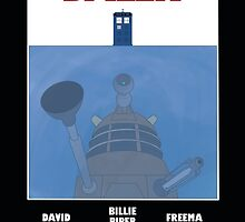 Doctor Who Dalek Jaws Poster by Justin McLlarky
