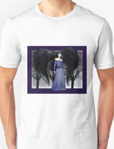 Dark Raven Angel Fantasy art Unisex T-Shirt