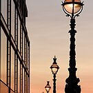 London South Bank. Street Lamps at Sunset by reds