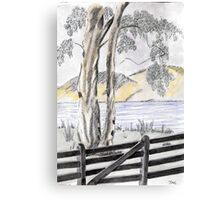 Behind the Fence. Canvas Print