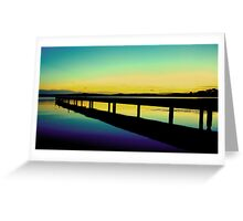 Lemon Lime Sunset Greeting Card