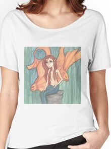 Goldfish and mermaid fantasy art Women's Relaxed Fit T-Shirt